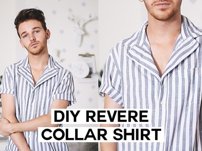 DIY Summer Button Down. Revere Collar Upcycle