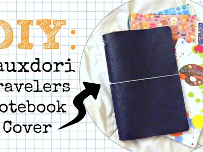 DIY Travelers Notebook Fauxdori Cover - No Sew \\ Planner Peace Tutorial + Craft Hack