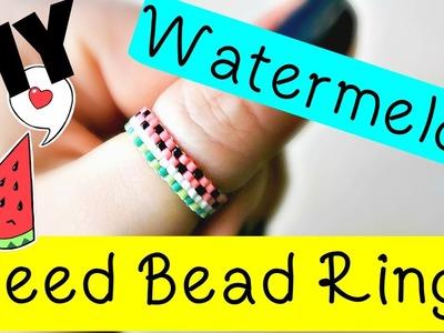 DIY Watermelon Seed Bead Ring. Bead Weaving. ¦ The Corner of Craft