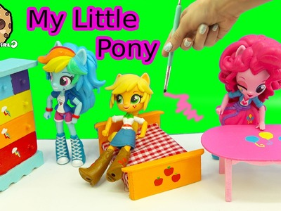 Dollar Tree Doll House Furniture My Little Pony Inspired Painting Craft Video