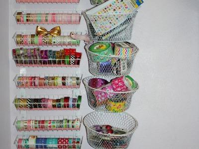 Dollar Tree Washi Tape, Duct Tape, Craft, basket station share!! Storage!