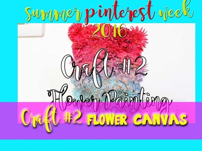 FLOWER Painting using Flowers (a Pinterest craft) - @dramaticparrot