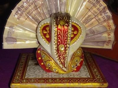 Ganpati Decoration. Origami. Note Decoration. Rupee Origami. DIY