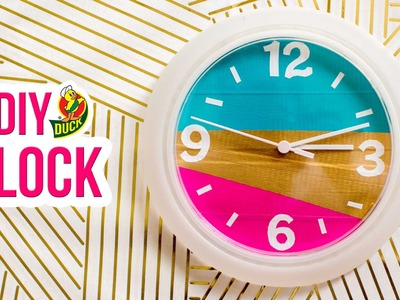 How to Craft a Duck Tape® Clock