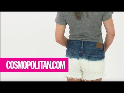How to Dip-Dye Shorts with Bleach | Cosmopolitan