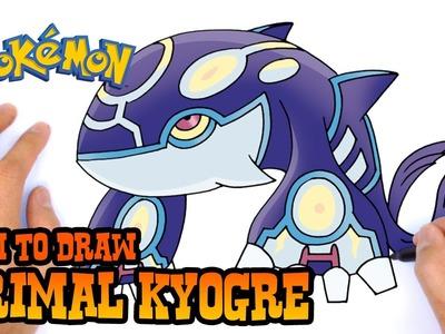 How to Draw Primal Kyogre (Pokemon)- Kids Art Lesson