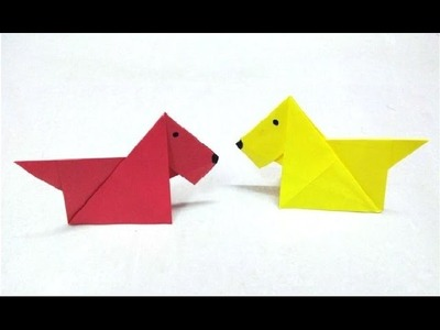 How to make an origami paper dog - 2 | Origami. Paper Folding Craft, Videos & Tutorials.