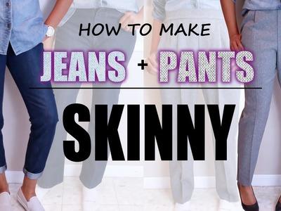 HOW TO MAKE JEANS & PANTS SKINNY | DIY Sewing | BlueprintDIY