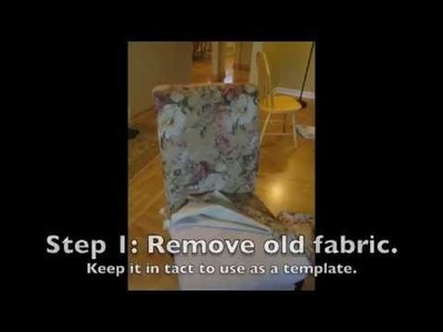 How to Reupholster a Parsons Chair in 7 Easy Steps