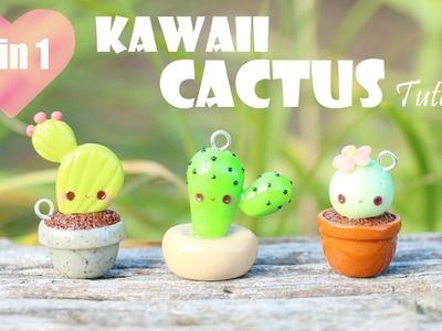 Kawaii Cactus│3 in 1 Polymer Clay Tutorial