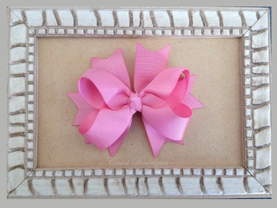 Laço boutique com Spike de fitas - How to make a Boutique Bow