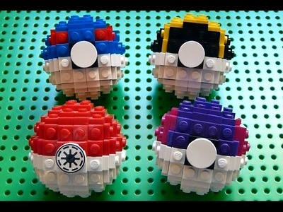 Lego Great Ball, Ultra Ball, and Master Ball (Pokemon) + Instructions