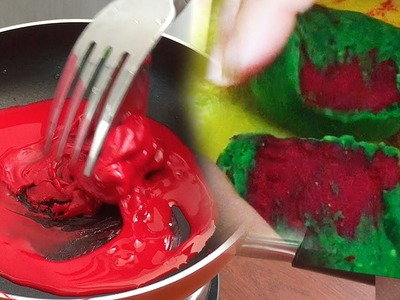 Let's Try to make Edible Slime from Cornstarch !! - Elieoops