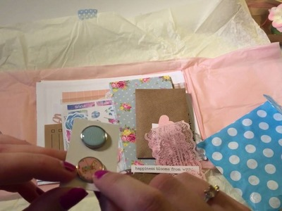 Lollipop Box Club Kit unboxing - July 2016 Flower fairies - craft.stationery