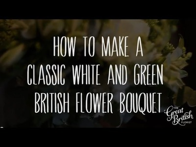 Making a Green and White Wedding Bouquet