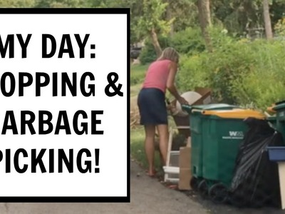 My Day: Shopping Haul and Garbage Picking! Craft Klatch