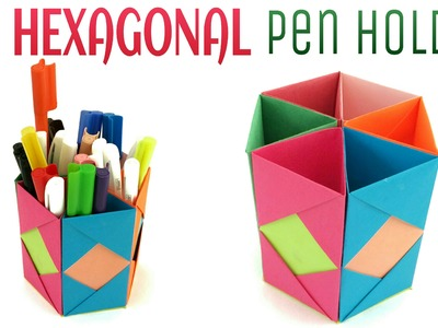 "Origami. Craft tutorial to make ""Hexagonal Pen 