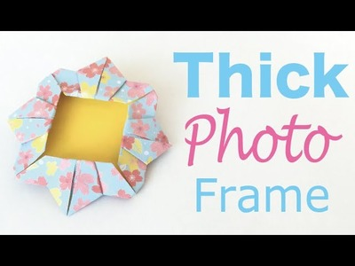Origami Paper Thick Photo Frame ✨DIY✨ - Origami Kawaii〔#138〕