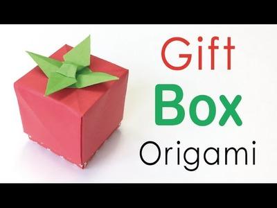 Origami Paper Tomato Gift Box ✨DIY✨ - Origami Kawaii〔#143〕