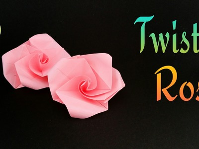 "Origami Tutorial to make Paper ""Twisted Rose Flower"" 