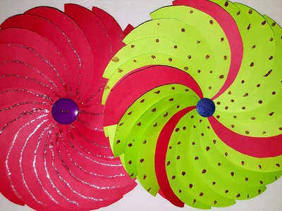 Paper flower - How to make paper flower for wall decorations- Crazy Craft Ideas
