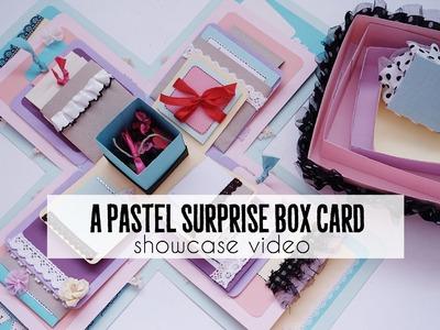Pastel Surprise Exploding Box Card (design showcase)