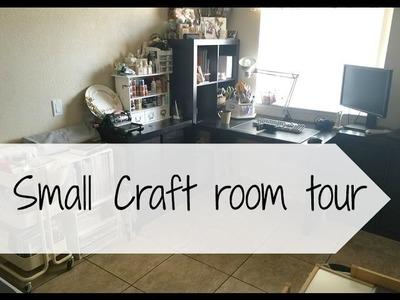 Scrapbook room tour. Small room ideas. 2016 craft room