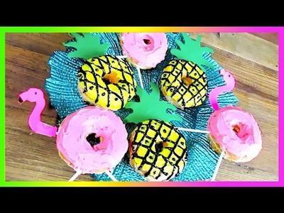 Summer Donuts DIY!  (Pineapple and Flamingo)