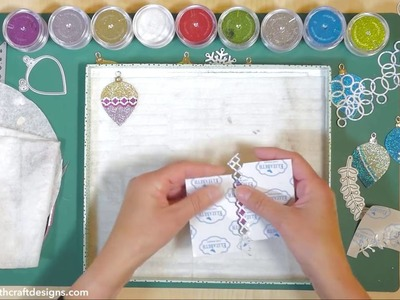 Technique Friday with Elizabeth Craft Designs Holiday Ornaments dies