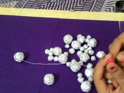 Wall hanging using aluminium Foil | DIY wall hanging