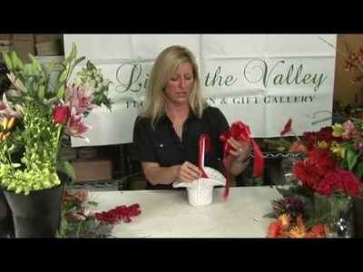 Wedding Flowers & Floral Arrangements : How to Decorate the Flower Girl's Basket