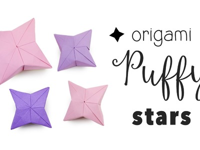 3D Origami Puffy Star Tutorial ✦ DIY ✦ Hanging Decoration ✦