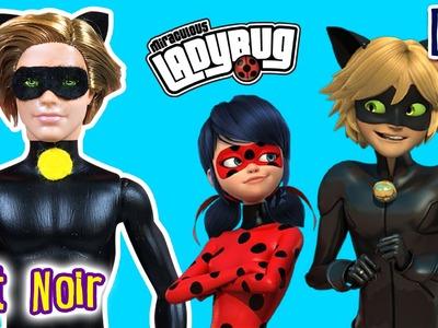 Cat Noir Miraculous Ladybug Custom Ken Doll - DIY - Barbie & Ken Tutorial