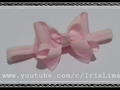 Como Fazer Laço Boutique invertido  Diy ,Tutorial ,Pap By Iris Lima How To Make a Hair Bow