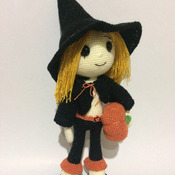 Cute Witch Wendy Amigurumi  for Halloween - PDF PATTERN