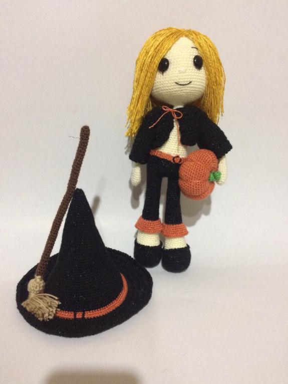 Amigurumi Zeitschrift Halloween : Cute Witch Wendy Amigurumi for Halloween - PDF PATTERN ...