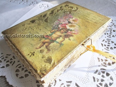 Decoupage journal cover tutorial - DIY. Vintage style journal.notebook. notepad.