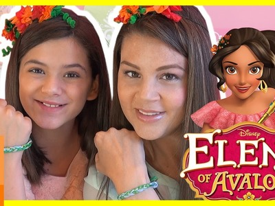 DISNEY PRINCESS ELENA OF AVALOR! DIY! HOW TO MAKE HER BRACELET AND FLOWER CROWN! | KITTIESMAMA