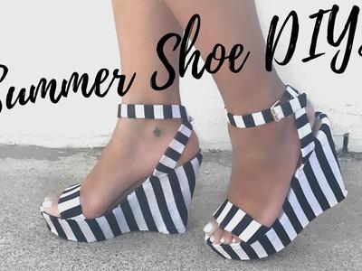 DIY: 3 SUMMER SHOE MAKEOVERS || DIY Summer Style Week