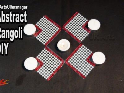DIY Abstract Kundan. Rhinestone Rangoli | How to make | JK Arts 1015