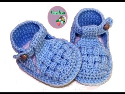 DIY baby booties sandals