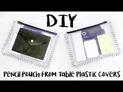 DIY: Back To School Clear Pencil Pouch