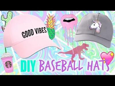 DIY BASEBALL HATS. DIY GRAPHIC BASEBALL HAT + DIY SHRINKY DINK PINS