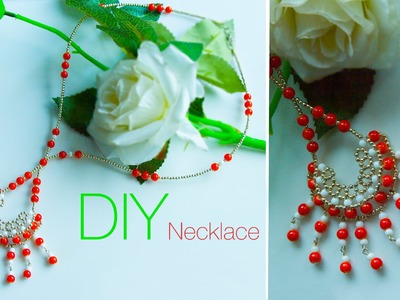 DIY beaded  necklace | jewelry making | How to make necklace