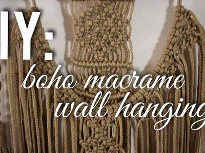 DIY BOHO MACRAME WALL HANGING | Diana Moore
