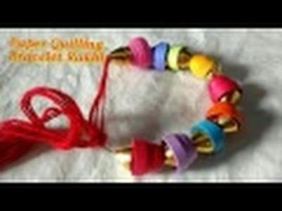 DIY Bracelet Rakhi Cum Friendship Band with paper Quilling   CraftLas