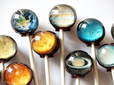 DIY : Chocolate Planet Lollipops