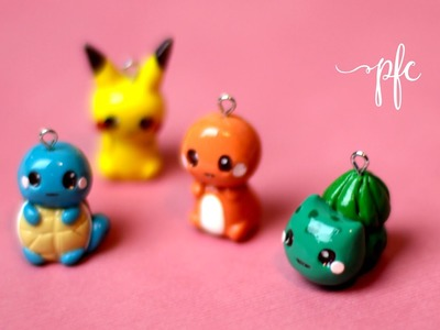 DIY CLAY POKEMON ✨ SQUIRTLE, PIKACHU, CHARMANDER, BULBASAUR ✨ Polymer Clay Charm Tutorial