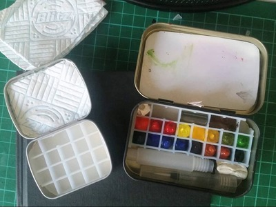 DIY Compact Watercolor travel palette tin. kit by Amy Louise Roberts - Arts