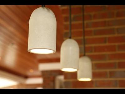 DIY Concrete Pendant Lights